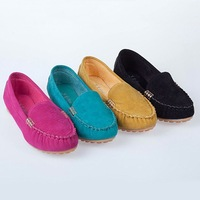 2014 NEW spring and autumn Casual Loafers pregnant woman nurse Driving Women shoes Slip-on Suede Women's Flats shoes
