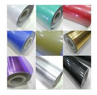 127*30 CM 2D carbon fiber vinyl film for car 7 color option Car sticker car styling