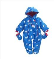 Hot 2014 new fashion baby newborn grand brand designer floral rompers kids girls & boys cotton-padded fleece overalls