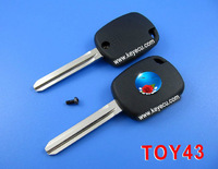 Brand New Replacement Shell Transponder Chip Key Case Fob For Toyota Uncut TOY43 Blade