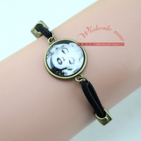 Free shipping 20pcs/lot vintage style Marilyn Monroe portrait bracelet,Unique DIY Jewelry