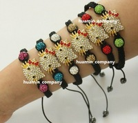 Hot Free Shipping micro pave cz Disco Beads Crystal children gift body chain one direction aliexpress Shamballa Bracelet