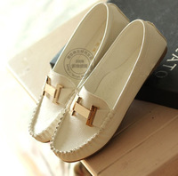 NEW 2014 british style vintage Lady's flats soft outsole women's shoes massage bottom loafers Flats shoes for women 008