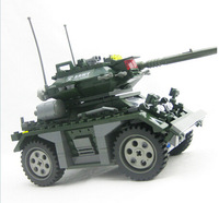 Educational DIY Construction Building Blocks Field Army  Czech Armored Car 84003 Perfect Gift  For Children  H1075 Free shipping