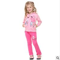 2014 autunm girls cartoon coat kids cotton long sleeve cartoon coat girls princess cloth