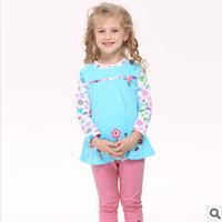 2014 autunm pig girls pink tshirt kids cotton long sleeve tshirt girls top wear good quality