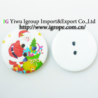 800pcs  Christmas Santa Claus painting wooden buttons for sewing boots coat sweater clothes findings MCB-539