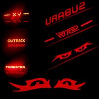 MATT SUBARU xv outback brake lights decoration stickers brake lights carbon fiber car stickers