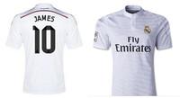 #10 James Rodriguez Real Madrid 2015 jerseys 2014/15 Real Madrid jerseys  Real Madrid 14 15  shirts camiseta de futbol