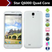 Star Q6000 Smartphone 6.0 Inch HD Screen MTK6589 Quad Core 2GB RAM/32GB ROM Gesture Sensing OTG  Android 4.2 mobile phones