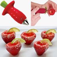 2014 Transport Tools Spiralizer Kitchen Tool Strawberry Berry Stem Leaves Huller Gem Remover Removal Fruit Corer Kitchen Tool