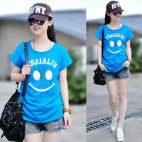 2014 summer women's all-match plus size women's 100% short-sleeve t shirt loose cotton cute t-shirt female