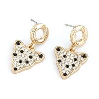 Fashion Personality Gold Leopard Earrings Crystal Women Stud Earring