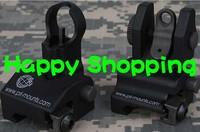 Pri front and rear folding M16 flip up sight mounts free shipping