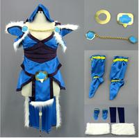Hot Sell Custom Made Dota Crystal Virgo Dress Cosplay Costume