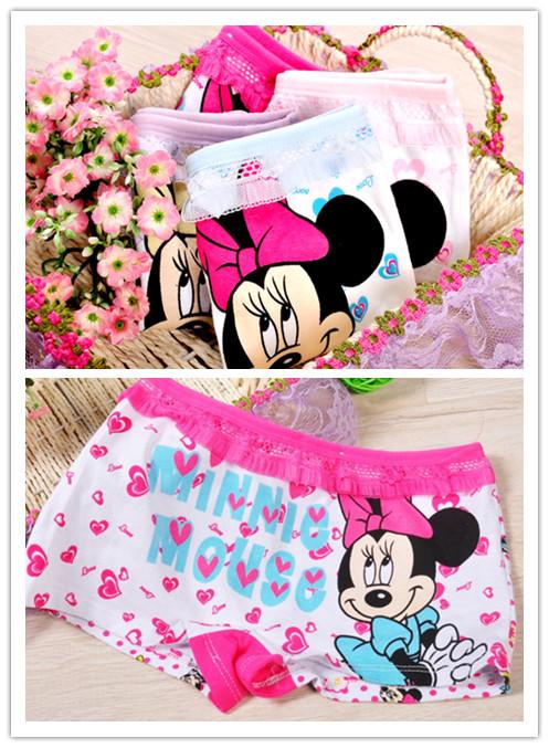 4piece lot girls underwear panties boxer child under wear children pants kids wholesale cotton underware cartoon