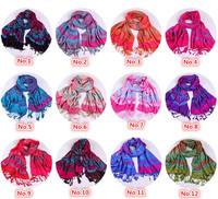 Free Shipping 2014 New Fashion Women's Pashmina cape Scarf winter Wrap Cotton printing shawl Pashmina tassels scarves 70*175cm