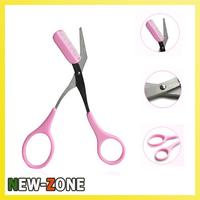 (Minimun Order 10$) Eyebrow Trimmer Knife with Brush  2 in 1 Eyebrow Scissor  Makeup Tool