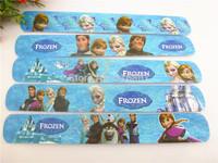 hot sell !! 2014 popular MIXED COLORS  Frozen  Magic Ruler Slap Band Bracelets / bangles  SL-1