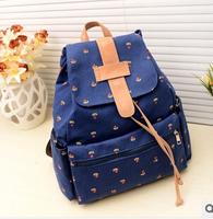 2014 new daily women&men   backpack/travel kanken Shoulders floret female bag retro canvas bag backpack school women#P0031