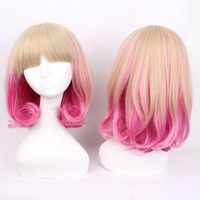 New Arrival Gold Pink Red Culy Pear Styled Cosplay Party Wig,Cos Wig Hair