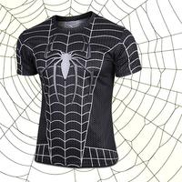 2014  black new elastic leica spiderman fashion t - shirts straitjacket Fancy clothes