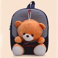 Children school bags cartoon bear mochila cute infant walking kid bags mochila infantil Free Shipping