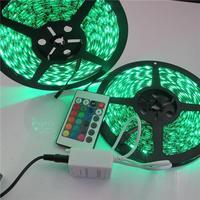 Waterproof LED Strips Precious LED Light Strips Black PCB 60pcsLED/M 10M Length 24key IR Control Hot Sale C5(B)W3RG*2+DR