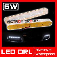 6w LED Daytime Running Light DRL White Fog Lamp Waterproof LED Lighting Universal DRL for Car Driving Light External Light New
