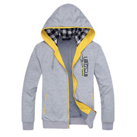 2014 New autumn fashion new men hoodies men's casual hooded coat cardigans M-3XL Free Shipping BWY651