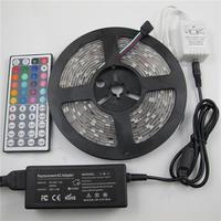 Effective LED Strips 5M Length LED Light Strips Set DC 12V 5A 60 SMD RGB LEDs Per Meter 300pcs LED Hot Sale C5W3RGI44+5A