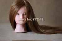 100% Good 1pcs Female Mannequin Head Wigs Brwon Hair Training Model Head Free shipping