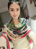 summer vintage large facecloth fluid air conditioning sun beach towel scarf cape dual female