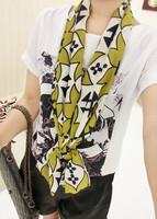 spring and summer scarf small all-match chiffon silk scarf female