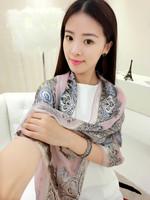 Summer ladies elegant mulberry silk silk scarf female long design silk scarf sun cape scarf