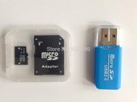 Memory card Micro SD card 32GB class 10  64GB 16GB 8GB Microsd TF card Pen drive Flash + Adapter+Usb card reader