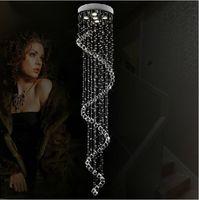 Free shipping!Modern led chandelier crystal ceiling lamp Spiral stair hanging lighting Home decorative fixture 110V 220V PL419