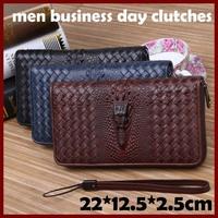genuine leather Men Wallet Crocodile Head Men Money Clips High Quality  Wrist bag 2014 Brand Design Men Money Clips