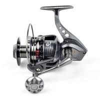 TOKUSHIMA Metal Spinning Fishing Reel 14BB HK7500 Parallel Volumes Gear 5.5:1 Pesca Free shipping