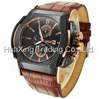 2014 NEW Badace Quartz Men Watch 3ATM Waterproof  Watch Military Sports Watches Men Wristwatches Genuine Leather Strap Watches
