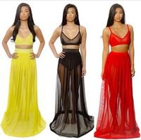 Free shipping  Hot Sale Women Celebrity Midi Bodycon Dress Ladies Sexy Party Bandage Dress Long Chiffon  Plus Size SE62