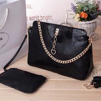 4 Colors Snake Pattern Genuine Leather Bag women Handbag Vintage Designer Handbags High Quality Brand Chain Shoulder Bags 2014