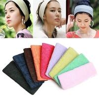 Fashion Candy Color Soft Elastic Toweling Hair Band Headband Sports Bandeau #D2