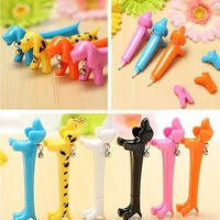 2PCS Creative Cute DOXIE Doggy Dog Design Dachshund Ballpen Desk Ballpoint Pen Gift