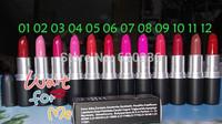 Free Shipping Hot Sale 120pcs/Lot Brand Lady Women Sexy Charming Cosmetic Makeup Lipstick Moisture Beautiful Lipsticks 12color