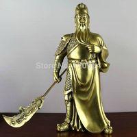 Pure Copper Pure handicrafts Buddha ornaments Zhen Zhai Guan Gong Guan Yu  Tibetan crafts gift Copper Bronze Statue