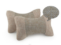 2014 direct selling time-limited freeshipping car styling taile car headrest linen neck cushion vehienlar plaid pillow