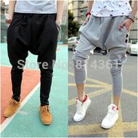 2014 New Fashion Casual Trousers Big Drop Crotch Men's Sweatpants Baggy Hip Hop Harem Men Cargo Pants Free Shipping