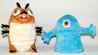 2 PLUSH FIGURES MONSTERS VS ALIENS INSECTOSARUUS & B.O.B