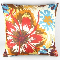 Vintage Multi-colored Floral Throw Pillow Case Decor Cushion Cover 50cm Square 20""